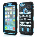 Protector for ip6 plus Tribal style grain(5.5)PC+ silica gel blue