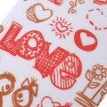 Protective Phone Case For iPhone6/6s 4.7'' Silica Gel Phone Case Creative Pattern I LOVE YOU