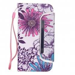 for iphone6/iphone 6S Detachable Phone Case Cover with Hand Strap Wallet Card Case Flowers Pattern
