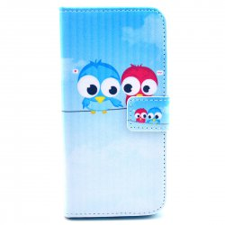 Phone Case for iphone6/iphone 6S PU Leather Phone Cover Colourful Lovers Owl Pattern