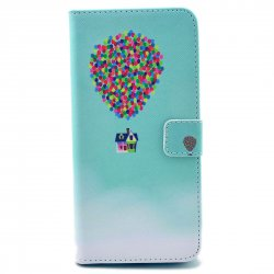 Phone Case for iPhone 6 plus/iPhone 6S plus PU Leather Phone Cover Hot-air Balloon Pattern