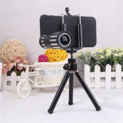 camera lens for iPhone6 12x Long focal distance,metal, HD, Black