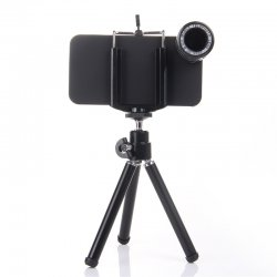 camera lens for iPhone5 12x Long focal distance, plastic, HD Black