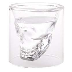 Creative Articles of Daily Use Skull Double Layer Glass Cup