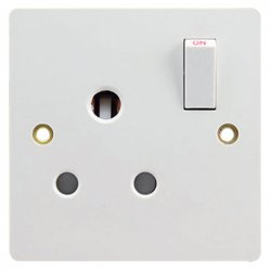 13A Wall-Mount Socket Panel Single Outlet British Standard White