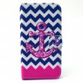 Phone Case for Samsung S6 Phone Cover Pink Anchor Pattern