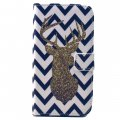 Phone Case for Samsung S6 edge PU Leather Phone Cover Golden Fawn Pattern