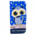 Phone Case for iPhone 6 plus/iPhone 6S plus PU Leather Phone Cover Owl in Night Pattern