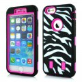 Protector for ipone6 zebra-stripe(4.7)PC+ silica rose red
