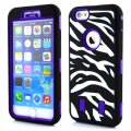 Protector for ipone6 zebra-stripe(4.7)PC+ silica gel multi-colours Purple