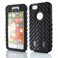 Protector for iphone 5S Slalom Picture PC+ silica gel black