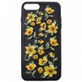 Protective Phone Case for iPhone7 Plus 5.5'' 3D Delicate Embroidery Pattern Yellow Flower