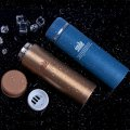 Vacuum Cup Stainless Steel Mug Insulated Water Bottle Keep Cold/Hot 8465 500ml Brown