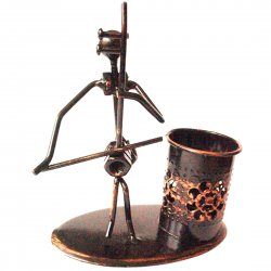 Creative  Home Decoration Iron Model Knick-knacks Pens Container Bronze