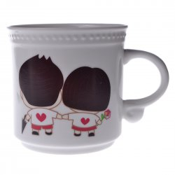 Creative Valentine's Day Gift Lovers Bone china Color-changing Mug Cup