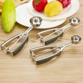 Creative Home Kitchen Tools Ice Cream Spring Scoop 304 Stainless Steel Diameter of 50mm