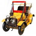 Creative Home Decoration Iron Model Knick-knacks Metal Cabriolet Model Yellow