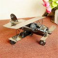 Creative Home Decoration Iron Model Knick-knacks Vintage Airplane Gray