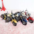Creative Home Decoration Iron Model Knick-knacks Vintage Motorcycle Model Yellow