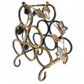 Creative Home Decoration Iron Four Holdes Wine Rack Bronze