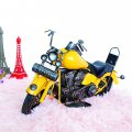 Creative Home Decoration Iron Model Knick-knacks Yellow Motorcycle Model