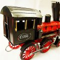 Creative Home Decoration Iron Model Knick-knacks Vintage Train Locomotive Red