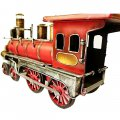 Creative Home Decoration Iron Model Knick-knacks Vintage Locomotive Model Red