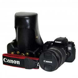 Protective Camera Case for Canon 760D/750D Cap Detachable Retro Style Black