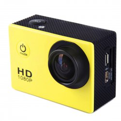 Outddor Sport Camera Water Proof Diving Ultra Wide Angle Lens Yellow