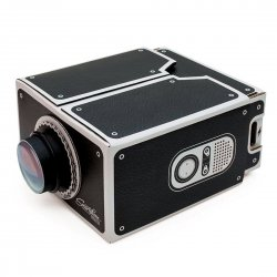DIY Smart Phone Projector No Power Need Easy Installation Black