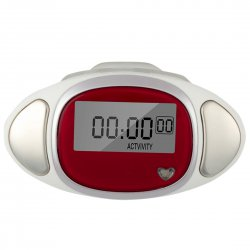 3D Inductive Intelligent Sensory Heart Rate Movement Pedometer Red