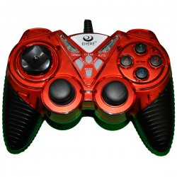 Playstation Dual Vibration Motors Game Controllers  Red