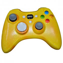 PC Wired Crack Lacquer Playstation Vibration Motors Game Controllers  Yellow