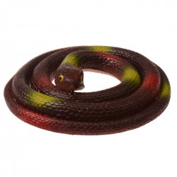 Realistic TPR Snake Toy Super Stretchy Trick Prop Children's Gift Toy Coffee Round Head Snake