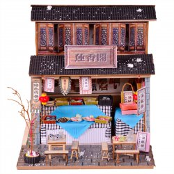 DIY Wooden House Model Toy Assembled Model Wooden House Old Fashion House
