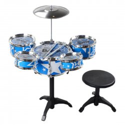 Children Toy Musical Instrument Children Drum Set with Chair 5 drums 1 small cymbals(with chair)