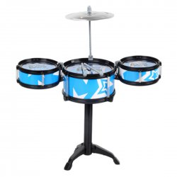 Children Toy Musical Instrument Children Drum Set with Chair 3 drums 1 small cymbals(no chair)