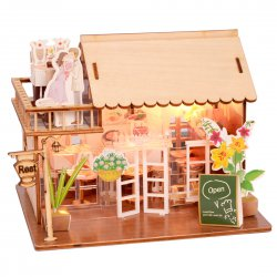 3D Wooden Puzzle DIY Model Country Pavilion with LED Light