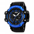 Fashionable Man's Sport Watch Multi-Function Outdoor Waterproof Watch Double Time Setting  Blue