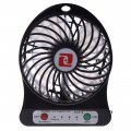 18650 Lithium Battery USB Power Charging Portable Fan Blue
