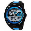 Multi-Function Sport Watch Dual Display Dual Movement Waterproof Watch