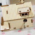 DIY Assemble Hand Crank Wood Handmade Music Box Creative Wood Puzzle Toy