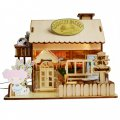 3D Wooden Puzzle DIY Model Countryside Bakery House with LED Light