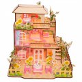 3D Wooden Puzzle DIY Model Flowers Villas with LED Light