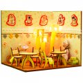 3D Wooden Puzzle DIY Model Warm Sweet Home Scene with LED Light
