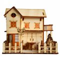 3D Wooden Puzzle DIY Model Wood House with LED Light