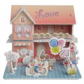 Funny Puzzle  3D Puzzle Romantic House Theme Form Board