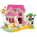 Funny Puzzle  3D Puzzle Vocation House Theme Form Board