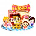 Funny Puzzle  3D Puzzle Pizza House Theme Form Board