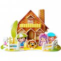 Funny Puzzle  3D Puzzle Sweet House Theme Form Board